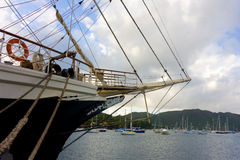The newly arrived sailing ship tenacious in the windward islands Royalty Free Stock Image