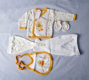 Newly born's clothes. Some clothes for the newly born Royalty Free Stock Photos