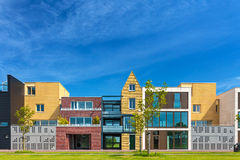 Newly build contemporary houses in The Netherlands Royalty Free Stock Image