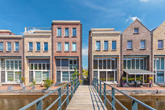 Newly build contemporary houses in The Netherlands Stock Photo