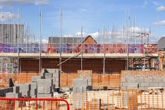 Newly build homes in Cheshire uk stock images