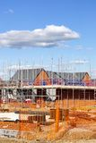 Newly build homes Cheshire UK stock photography