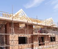 Newly build homes in England UK Stock Photo