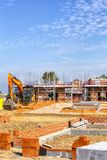 Newly build homes under construction UK royalty free stock photos