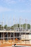 Newly build homes in scaffolding UK Royalty Free Stock Photo