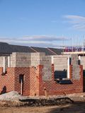 Newly build homes on a housing estate UK royalty free stock image