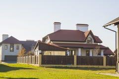 Newly built alpine house Stock Image