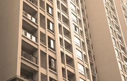 Newly built apartment building Royalty Free Stock Photo