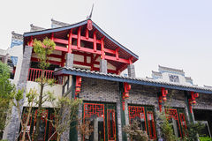 Newly built archaised building,Chengdu,China Royalty Free Stock Image