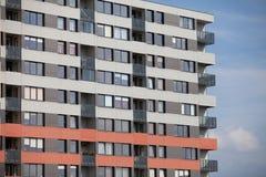 Newly built block of flats. New flats - newly built houses Royalty Free Stock Photos