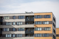 Newly built block of flats Stock Images
