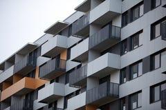 Newly built block of flats. New flats - newly built houses Stock Photos