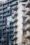 Newly built block of flats. New flats - newly built houses Royalty Free Stock Photography