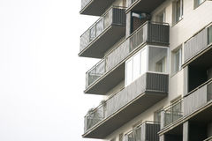 Newly built block of flats Stock Photo