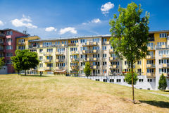 Newly built block of flats in green nature Stock Image