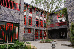 Newly built Chinese archaised building Royalty Free Stock Images