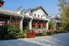 Newly built Chinese tradtional building in sunny winter Royalty Free Stock Images
