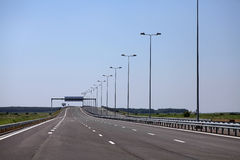 Newly built highway royalty free stock photography