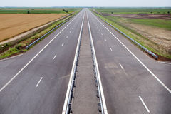 Newly built highway Royalty Free Stock Photos