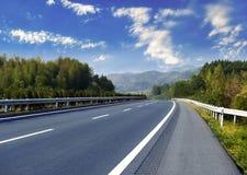 Newly built highway Stock Photos