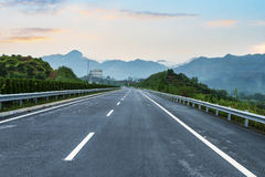 Newly built highway Stock Photo