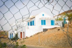 Newly built house in Cape Verde, Africa. Newly built house in Boa Vista, Cape Verde, Africa Royalty Free Stock Images