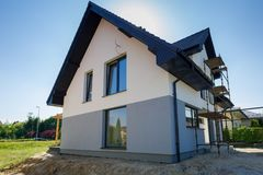 Free Newly Built House With A Finished Plaster Royalty Free Stock Photography - 118314367