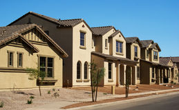 Newly-built houses in a housing development Royalty Free Stock Photography