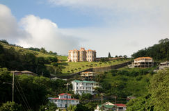 Newly-built houses on mainland st. vincent Stock Images