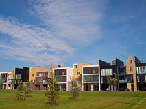 Newly built houses in Vathorst. Royalty Free Stock Images