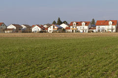 Newly built housing area in Southern Bavaria Royalty Free Stock Photo