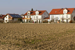 Newly built housing area in Southern Bavaria Royalty Free Stock Photos