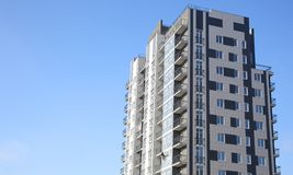 Newly built multi-storey residential building stock image