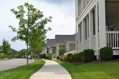 Newly Built Neighborhood Subdivision Royalty Free Stock Images