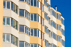 Newly built residential building Royalty Free Stock Photo