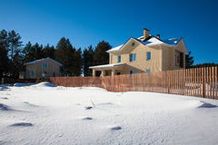 Newly Built Suburban House. During winter time Royalty Free Stock Images