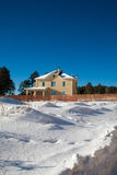 Newly Built Suburban House. During winter time Stock Images