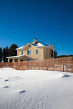 Newly Built Suburban House. During winter time Stock Photo