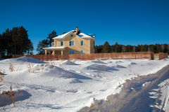 Newly Built Suburban House. During winter time Stock Photos