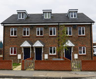 Newly built terraced homes Stock Image