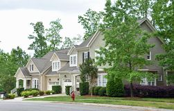 Newly Built Town Homes stock photos