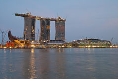 Newly completed Marina Bay Sands Royalty Free Stock Photo