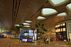Newly completed Terminal four 4 of Changi Airport Singapore Royalty Free Stock Photos