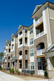 New apartment building in suburban area. Newly constructed  apartment building in suburban area Stock Image