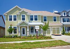 Newly constructed coastal home Stock Image