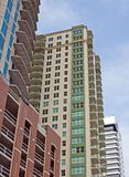 Newly constructed condo. Waterfront, high rise condos near downtown Jacksonville, Florida Royalty Free Stock Image