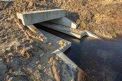 Newly constructed Eco Culvert Stock Photo