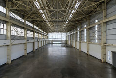 Newly constructed empty warehouse/factory from above Royalty Free Stock Photo