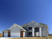 Newly Constructed Home. New home construction in upscale neighborhood royalty free stock image