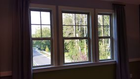 Windows. A newly constructed modern home windows royalty free stock photos